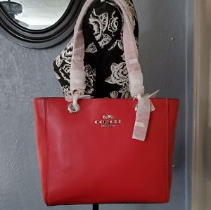 💎NWT COACH JES TOTE In Bright Cardinal Red